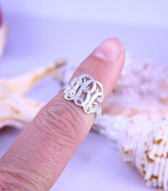 Monogram Rings ,Sterling silver initials Rings,Name Jewelry ,  925 Silver Rings ,Women Ring Gift , New Year ring gift on Etsy, $34.00