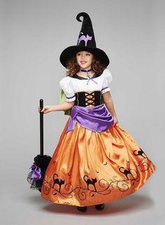 Love this Orange & Purple Vintage Witch Dress-Up Set - Girls on Costume Halloween, Kids Witch Costume, Halloween Costumes For Girls, Girl Costumes, Halloween 2016, Vintage Witch Costume, Costumes D'halloween Vintage, Costume D'halloween Fille, Doll Costume