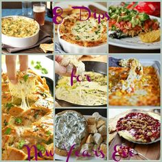 This is a list of 8 dips that all look really yummy, and would be perfect to serve a New Year's Eve party...or any party really. I know when I am hosting a party, it is not complete without at least 2 dips. Any of these would be great to serve alongside a meal, or other appetizers. Some hot, some cold, something for everyone! First up is this Baked Brie with Cranberry Sauce and Walnutsfrom Simple Bites. It only takes 20 minutes to make from start to finish, and is also vegetarian…