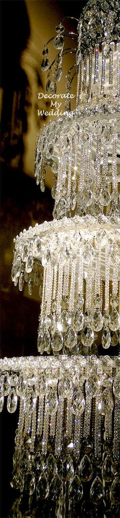 DECORATE MY WEDDING Crystal Wedding Cake Centerpieces