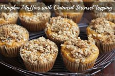 Sunday Brunch Recipes – Pumpkin Muffins with Oatmeal Streusel Topping