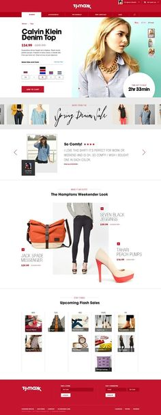 Web design inspiration - TJ Max - Modern Retail, ecommerce website