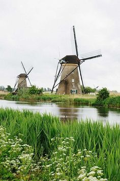 Dutch Windmills, Cheese & Tulips: 5 Day Trips from Amsterdam You Can't Miss Windmill Drawing, Windmill Art, Old Windmills, Dutch Windmill, Day Trips From Amsterdam, Amsterdam City, Moulin France, Best American Road Trips, Nature Photography