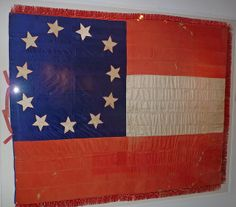 The first national flag of the Confederate States of America, eleven-star version