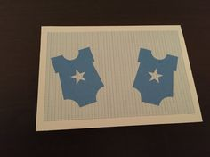 Twin boys twin blue onesies card