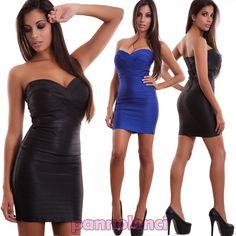 Vestito donna miniabito tubino aderente intrecci scollo cuore sexy nuovo MT15922 - Miniabiti - Abbigliamento Donna