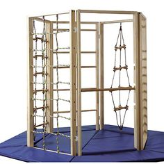A great freestanding climbing frame ideal for schools or clinics. it is so stable it doesn't need to be screwed in the ground.