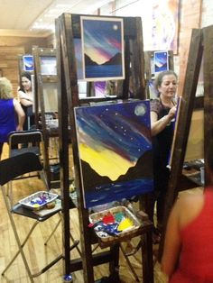 Paint and sip at Fresh Paint Studio + Cafe.