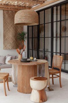 Bali Style Home, Bali Decor, Wood Stumps, Minimalist Home, Home Decor Styles, Interior And Exterior, Wood Interior Design, Simple House Interior Design, Home Decor Inspiration