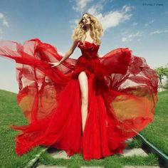 Shady Zein Eldine - Haute Couture Kuwait - Fashion Design Kuwait - Wedding Gowns & Evening Gowns - Signed by Shady Zeineldine Beauty And Fashion, Red Fashion, Look Fashion, High Fashion, Fashion Glamour, Hollywood Fashion, Fashion Dresses, Fashion Design, Red Wedding