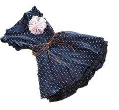 Bonito das meninas do bebê da criança kid roupas de manga curta Jumper vestido de uma peça ages2-7 anos grátis frete