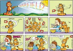 Collectible Print of garfield - Misc - Funny Garfield Cartoon, Garfield And Odie, Garfield Comics, Cartoon Jokes, Cartoon Characters, Funny Jokes, Cartoons, Hilarious, Cute Comics