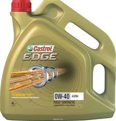 """Масло моторное Castrol """"Edge"""", синтетическое, класс вязкости 0W-40, A3/B4, 4 л. 156E8C"""