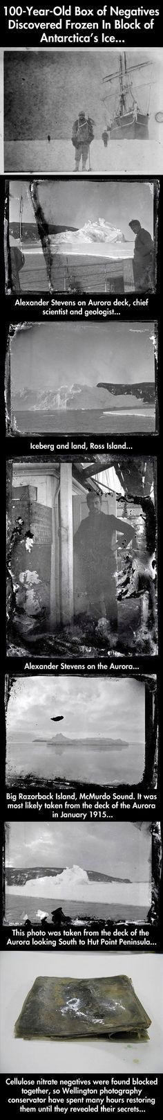 Photos discovered frozen in block of ice…