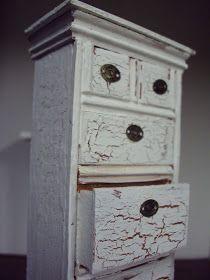 Antique Daisy: Shabby Miniature Bureau Tutorial