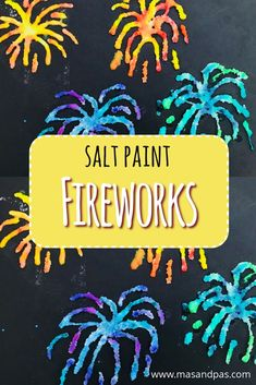 Use salt and glue and water colours to make these beautiful and bright firework pictures. A fabulous bonfire night craft for kids. Time: 15 mins Age: Toddlers to Big kids Difficulty: Intermediate Bonfire Crafts For Kids, Bonfire Night Activities, Bonfire Night Crafts, Fireworks Craft For Kids, Fall Crafts For Kids, Summer Crafts, Toddler Crafts, Art For Kids, Autumn Art Ideas For Kids