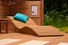 English Garden Joinery rocking lounger at Chelsea Flower Show 2012