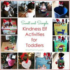 Ideas for using Kindness Elves with toddlers ... keeping things sweet, simple, and fun while focusing on kindness at Christmas.