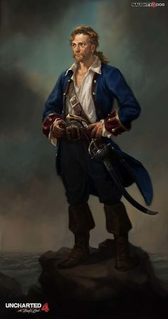The Art of Uncharted 100 Concept Art Collection - Daily Art, Games Game Character, Character Concept, Concept Art, Pirate Art, Pirate Life, D D Characters, Fantasy Characters, Fantasy Figures, Rpg Pathfinder