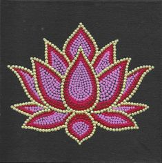 Buy Lotus Dot Art painting online - 100 original museum quality artwork by Kunal Girme, available at Gallerist. Check price, painting and details online. Dot Art Painting, Rock Painting Designs, Mandala Painting, Online Painting, Painting Patterns, Paint Designs, Abstract Art, Diwali Painting, Pottery Painting