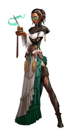 Female Human Occultist - Pathfinder PFRPG DND D&D d20 fantasy