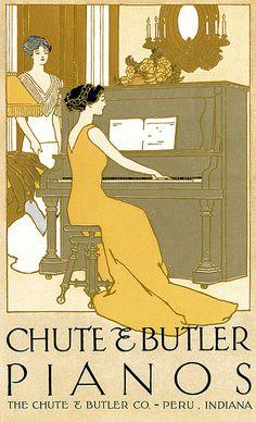 Deco Ad for Pianos