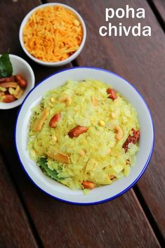 poha mixture, how to make spicy poha chivda with step by step photo/video. traditional maharashtrian or north karnataka spicy snack with thin flattened rice Puri Recipes, Veg Recipes, Spicy Recipes, Cooking Recipes, Snacks Recipes, Cooking Tips, Healthy Recipes, Poha Recipe, Indian Dessert Recipes