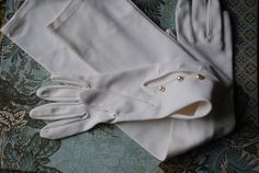 Wedding vintage 60s crisp white nylon 230 long over the by VezaVe