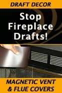 Drafty Fireplace Fix that looks great! Functional and attractive ...