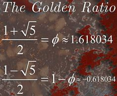 Whoever wants to understand much must play much. –Gottfried Benn.   The Golden Ratio has an interesting property: Its square is only one more than itself.  For large numbers, given any Fibonacci number, you can approximate the next Fibonacci number by multiplying the current one by (1+√5)/2, that is F(n+1)≈φF(n).