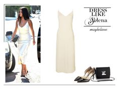 Selena Gomez #44 by maybelieve on Polyvore featuring moda, Jimmy Choo and Louis Vuitton