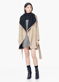 Abrigo cascada lana