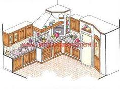 progetto cucina in muratura 3d - Cerca con Google | kitchen ideas ...