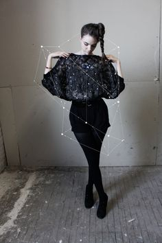 * would be cool to photoshop a pic like this *   Fabulous Sequin Black Batwing Top by MukkiShop on Etsy