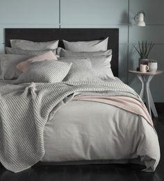 Tiny Stripe Graphite Grey Bed Linen | Secret Linen Store