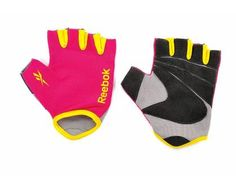 (Fitness Gloves - choice of colours) Comfort fit gloves with coloured fabric inlays. Ideal for general fitness training. Small, medium and large sizes.