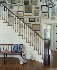 Portraits by the stairs