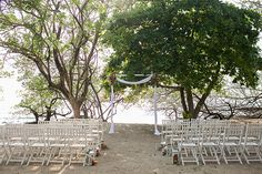 ceremony at Sarah and Ben's destination wedding in Costa Rica Photo by: katherinestinnett.com