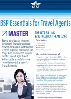 IATA BSP Essentials for Travel Agents. Study at Riya Institute and be an expert. For more information call +91 9562700121 or visit our website. #IATA #BSP #travel