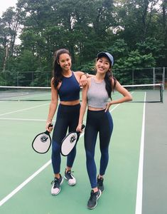(pickleball) cute tennis exercise outfit sets for working out #tennisexercises