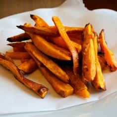 Perfectly crunchy, these oven fried sweet potatoes are the best I