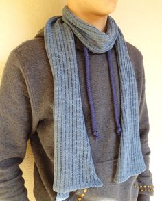 Extra long linen scarf, unisex infinity scarf, organic yarn, woman stole, gift for him, dyed linen hand, vegan gift, light blue accessories  #DyedLinenHand #ExtraLongScarf #ScarvesForMen #UnisexScarf #LightBlue #accessories #OrganicYarn #VeganGift #GiftForHim #WomanStole