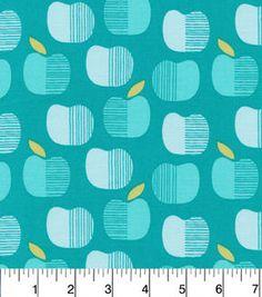 Cloud 9 Premium Cotton Fabric-Apples Turq