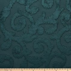 Morgan Fabrics Velvet Botticelli Teal - Discount Designer Fabric - Fabric.com Scroll Pattern, Chair Upholstery, Club Chairs, Discount Designer, Ottoman, Fabrics, Teal, Velvet, Traditional