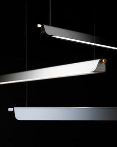 Trapets by Note design studio for Zero -- elegant pendant strip lights.