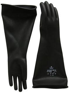 Cheap Marigold ME104 - 7.5 Medium Weight Gauntlet Gloves Medium Black deals week