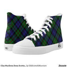 Clan MacEwen Ewen Scottish Tartan Printed Shoes