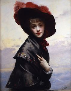 The Coquette, Gustave Jean Jacquet (1846 - 1909)