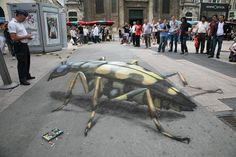 Take a look at this amazing Julian Beever Rides Again! Browse and enjoy our huge collection of optical illusions and mind-bending images and videos. 3d Street Art, Urban Street Art, Best Street Art, Amazing Street Art, Street Art Graffiti, Urban Art, Amazing Art, Chalk Artist, 3d Chalk Art