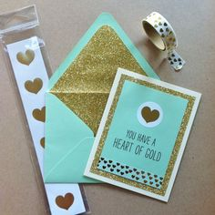 Get the how-to for this Mint and Gold card on our blog!